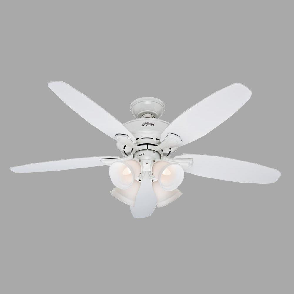 Landry 52 Inch White Ceiling Fan with Light Kit