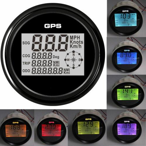 85mm Waterproof Gps Speedometer Digital Odometer Mph Knots