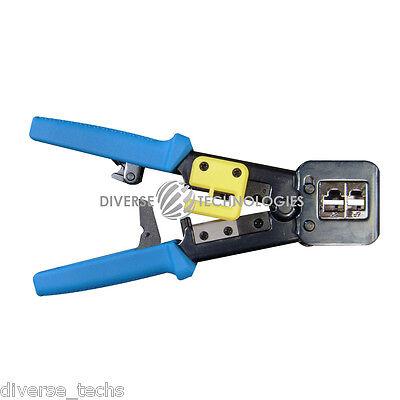 100pcs Ez Rj45 Cat5 Connectors Crimping Tool Plus 1 Set New Blades Ez-rj45 Kit