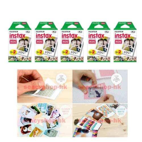 100 pcs 10 pack fujifilm instax film mini fuji photo neo 90 8 9 25 7s 50s sp-1