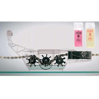 Pro Bicicleta Ciclo Limpiador 50ML Detergente +50ML Lubricante Herramienta de