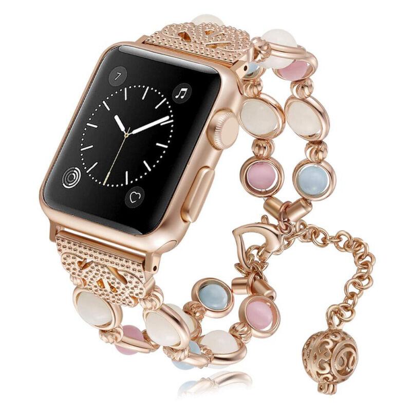 US Apple Watch Band 38MM-44MM Women Luminous Night Pearl Bra