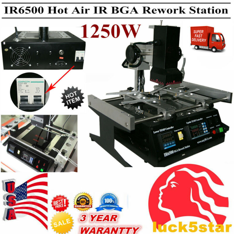 IR6500 BGA Rework Station Xbox360 PS3 Infrared Soldering&Welding Reballing