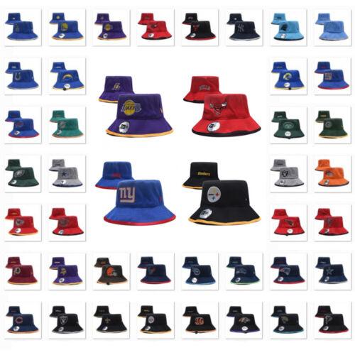 Unisex Boonie Bucket Hat Sports Football Basketball Logo Fishing Outdoor Sun Cap