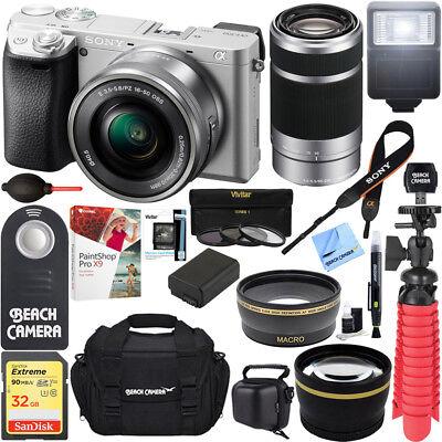 Sony a6300 4K Mirrorless Camera 16-50mm & 55-210mm Power Zoo