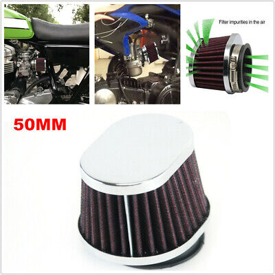 Motorcycle Carburetor 50MM Air Filter ATV Intake fit for Suzuki Kawasaki Yamaha