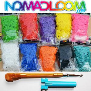 sac elastique pour bracelet arc en ciel jeu rainbow cra z loom kit band refill ebay. Black Bedroom Furniture Sets. Home Design Ideas