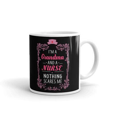 (I'm A Grandma and A Nurse Retirement Coffee Tea Ceramic Mug Office Work Cup Gift)