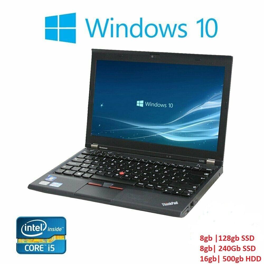 Laptop Windows - Lenovo Thinkpad X230 Core i5 2.60GHz 16GB Ram Office SSD Windows 10 Laptop