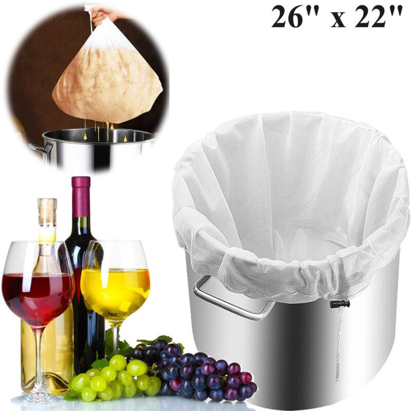"""Drawstring Brew Bag Food Strainer Mesh Homebrew Beer Wine Filter Bag 26"""" x 22"""""""