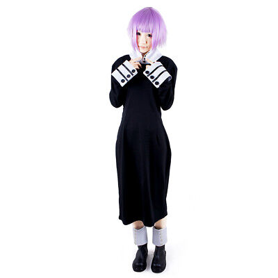Soul Eater Crona Cosplay Costume Black Dress for Halloween