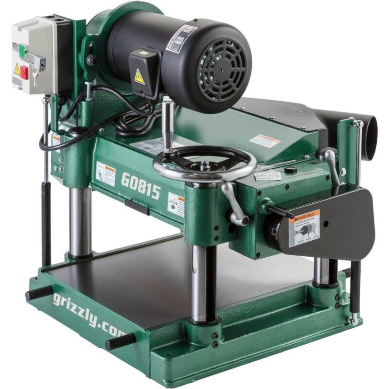 "Grizzly G0815 15"" 3 HP Heavy-Duty Planer"