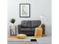 Sofa with 2 seats, FREE DELIVERY, Grey fabric, Like new