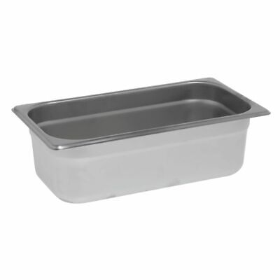 """AdCraft 18-8 STAINLESS STEEL Steam Table Pan 1//6 Size 4"""" Deep"""