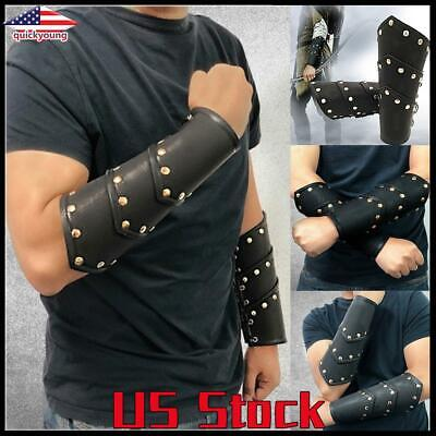 Men's Fantasy Halloween Costumes (Halloween Costume Christmas Medieval Leather Arm Armor Fantasy Cosplay Party)