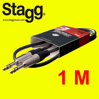 "Stagg SAC1PS High Quality  Deluxe Audio Cable -1m (3ft) 1/4"" Stereo Jack to Jack"