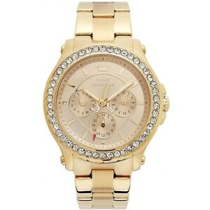 Juicy Couture 1901049 Pedigree Crystals Women's Gold-tone Steel Watch New in Box