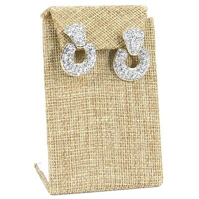 Modern Burlap Earring Display Stand Drop Earring Stand Jewelry Display 3 38h