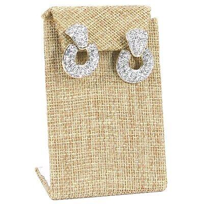 Modern Burlap Earring Display Stand Drop Earring Stand Jewelry Display 3 38h