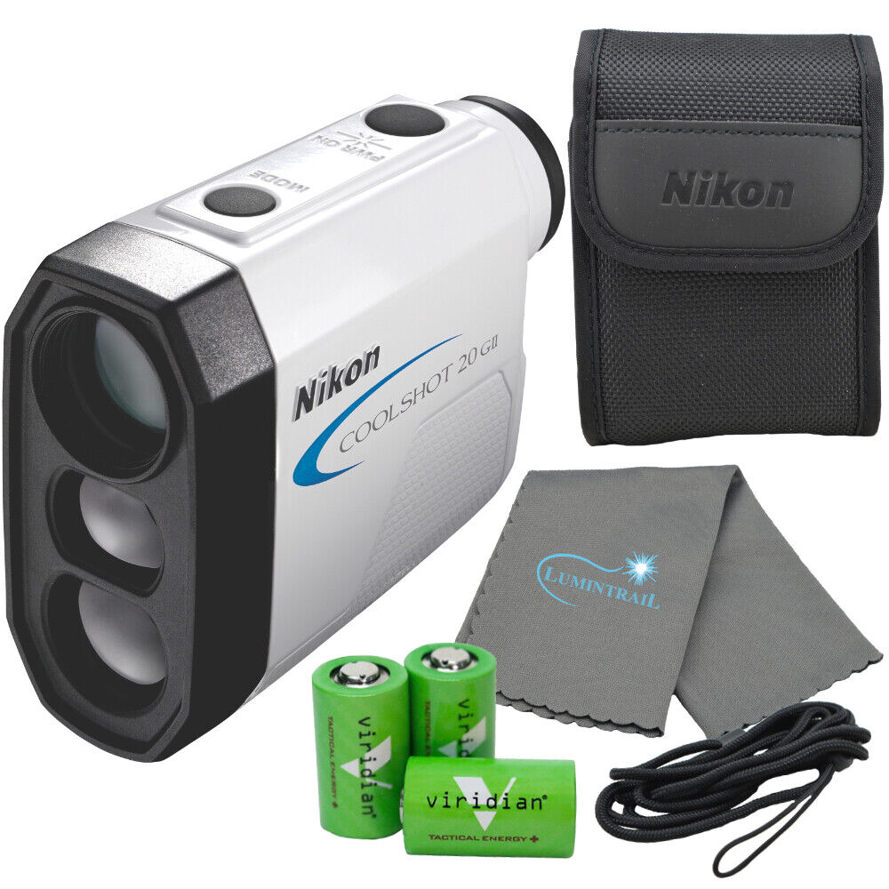 Nikon Coolshot 20 GII Golf Laser Rangefinder with 3 CR2 Batt