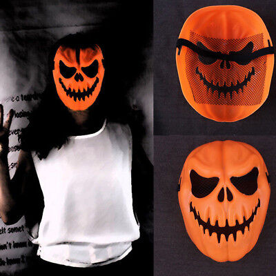 Funny Pumpkin Latex Mask Halloween Party Cosplay Face Mask Tool Prop Costume US