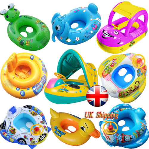 Inflatable Kids Baby Toddler Swimming Pool Swim Seat Float Boat Ring UK Stock