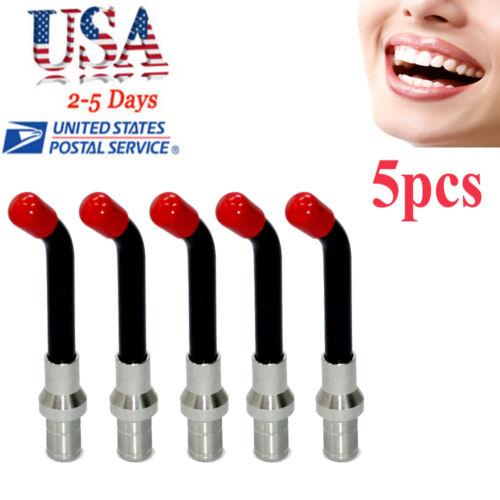 【5*units】Curing Light Guide Rod Tip Glass LED Black 8×10mm Dental Optical Fiber