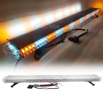 63 Amber White Led Light Bar Warning Emergency Beacon Response Tow Truck Strobe