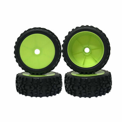 4Pcs RC Car 1/8 Rubber Tires Tyre and 17mm Hubs Wheel Rims for RC Buggy Off-Road