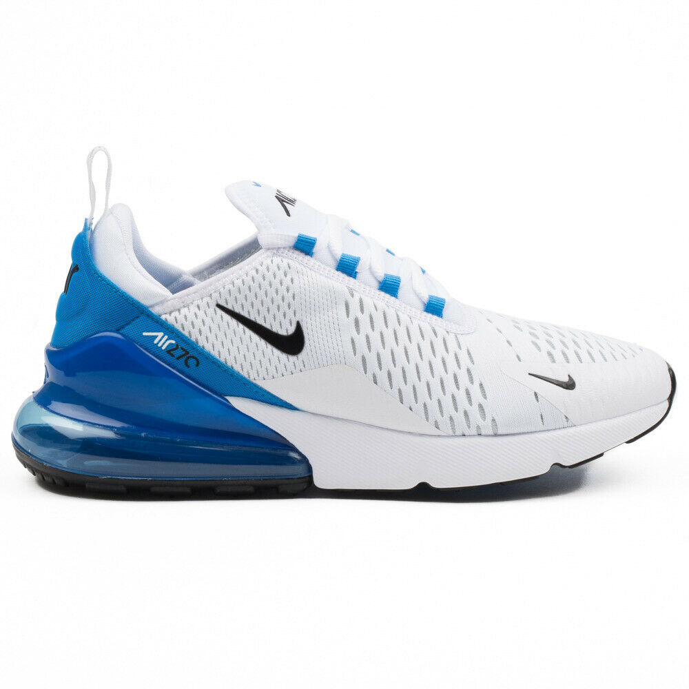 Nike Air Max 270 White Photo Blue AH8050-110 Airmax Mens Running Shoes Sneakers