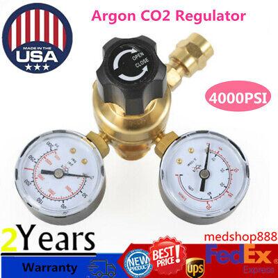 Argon Co2 Gas Mig Tig Flow Meter Regulator Pressure Control Gauge Welder Us