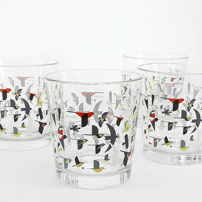 Charley Harper Bird Migration Double Old Fashioned - Set of 4 Glasses