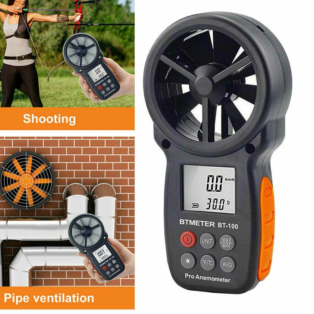 Digitaler Anemometer Handheld Windgeschwindigkeitsmesser zur Windmessung BT-100