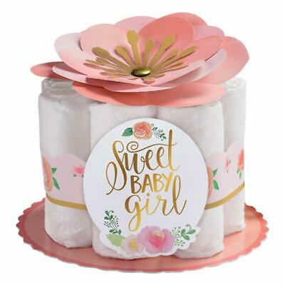 Baby Girl Showers (SWEET BABY GIRL DIAPER CENTERPIECE KIT Party Shower Room Decorations Flower)