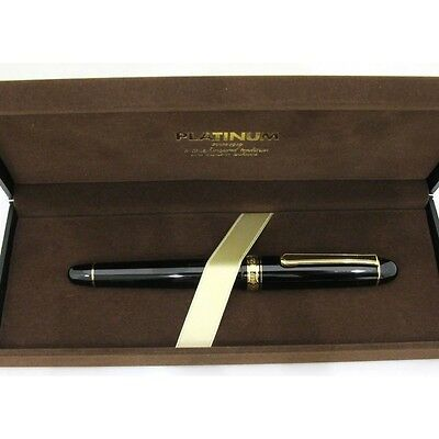 Fountain Pen PLATINUM #3776 Century nib: Music 14k calligraphy F/S EMS Japan