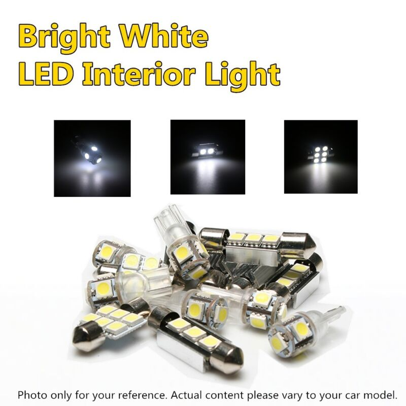 12x 5050 LED White Interior Light Lamp Kit For 1998-2005 Lexus GS300 GS400 GS430