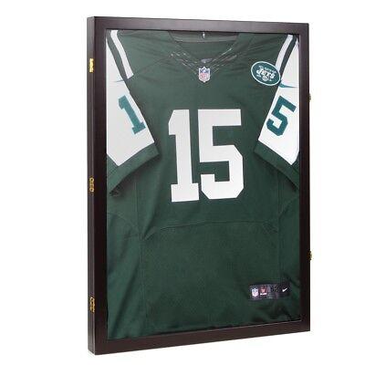 Jersey Shadow Box Wall Display Case Wood Frame Wall Cabinet Football Baseball