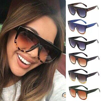 Leopard Flat Top Oversized Shadow Shield Women Ladies Designer Sunglasses (Leopard Sunglasses)
