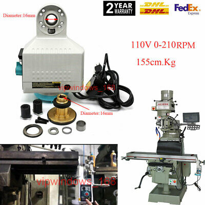 110v Power Feed X-axis 135lb Torque For Bridgeport Type Milling Machine 0-210rpm