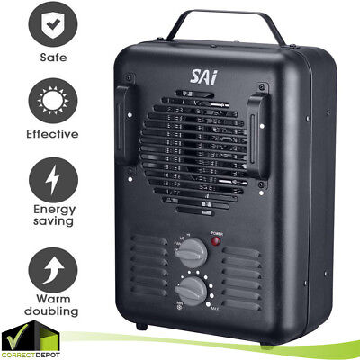 Heater Thermostat - Portable Heater Electric Utility Garage WorkShop Fan Heating Thermostat 1500W