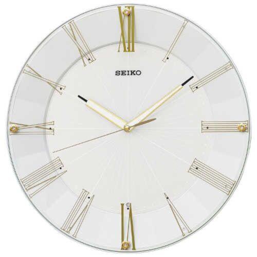 SEIKO KX214H High Quality Modern Design Wall Clock White Pearl Fast Ship Japan