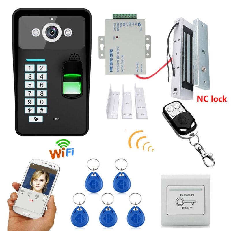 Wireless WIFI Password Video Door Phone Doorbell Intercom+Electronic Magnet Lock