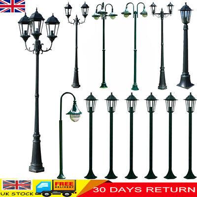 Victorian Outside Garden Light Patio Pathway Street Light Lamp Post Black Lights