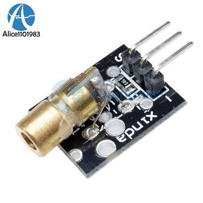 5pcs Laser Sensor Module 650nm 6mm Red Laser Dot Diode Copper Head F Arduino