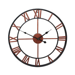 16 Modern Wall Clock Outdoor Indoor Metal Silent Non-Ticking Home Office Decor