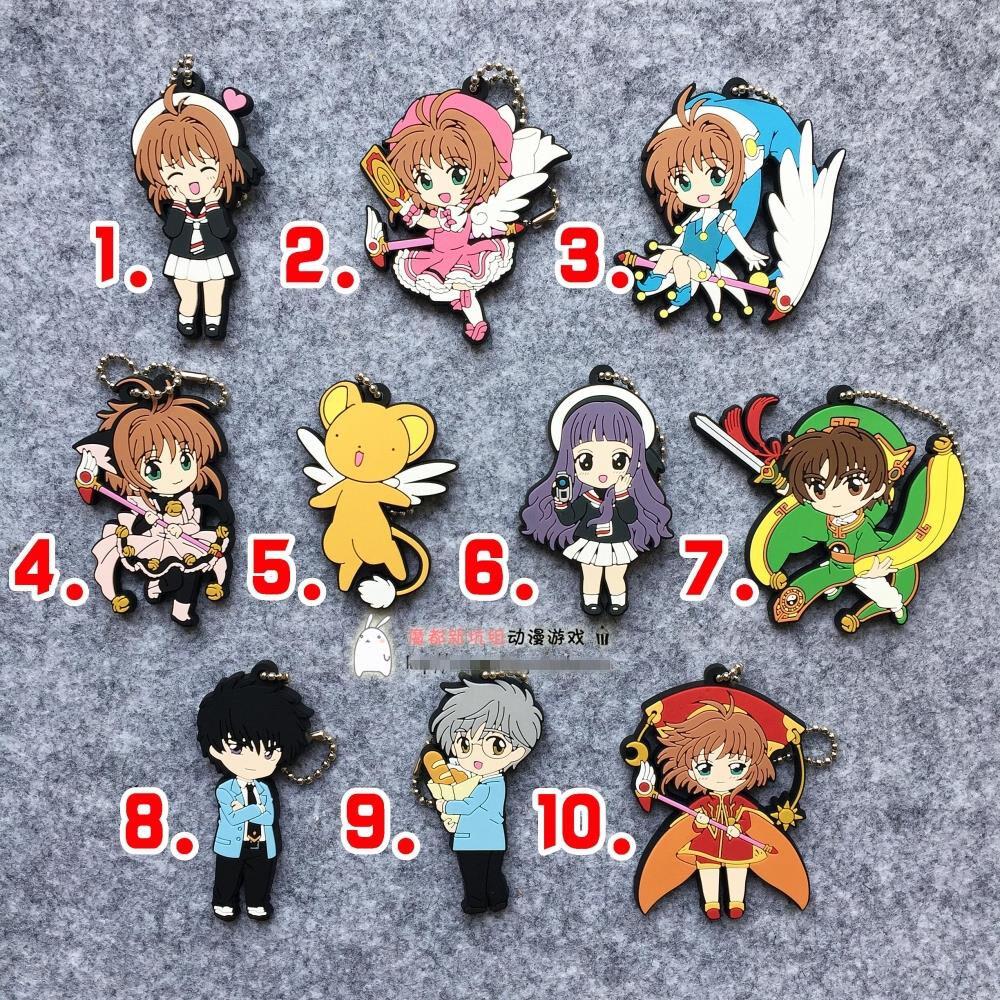 T027 Hot Japan anime Card Captor Sakura Sakura Keychain Key Ring Rare