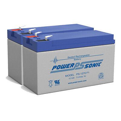 Power-Sonic 2 Pack - 12V 7AH Battery RAZOR Scooter MX350 M400 Pocket Sport Mod B