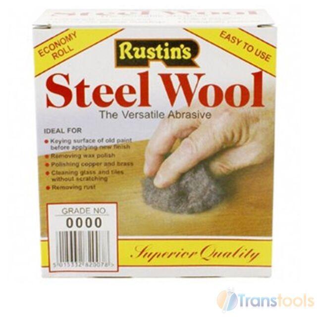 Rustins Steel Wire Wool Grade 0000 Ultra Fine 150G