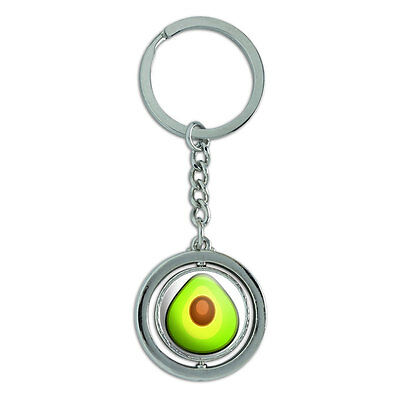 Avocado Spinning Round Metal Key Chain Keychain Ring