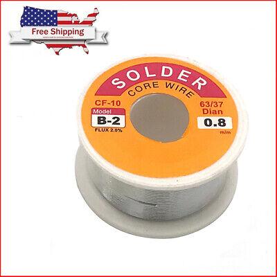 60-40 Tin Lead Rosin Core Solder Wire Soldering Sn63 Pb37 Flux 2.0 0.8mm 100g